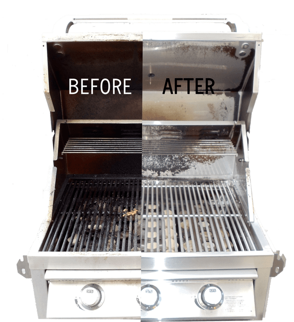 BBQ Cleaning Service before and after